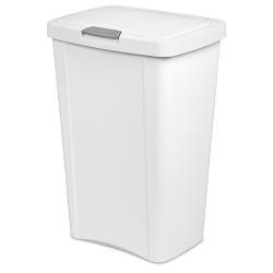 Sterilite ® 13 Gallon White TouchTop™ Wastebasket