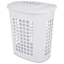 Sterilite ® 2.3 Bushel White Lift-Top Laundry Hamper