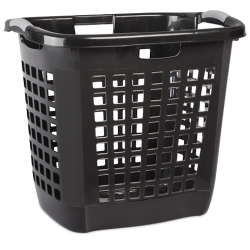 "Sterilite® Black Ultra™ Easy Carry Hamper - 22-1/4"" L x 17-3/8"" W x 19-7/8"" H"