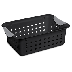 "Sterilite® Small Black Ultra™  Basket - 11-1/8"" L x 8"" W x 4"" H"