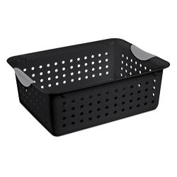 Sterilite ® Medium Black Ultra™ Basket - 13-3/4