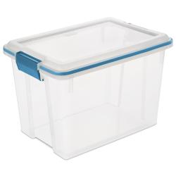 Sterilite® 20 Quart Clear Gasket Box with Aquarium Latches & Gasket