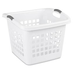 Sterilite ® 1.75 Bushel White Ultra™ Laundry Basket - 19-1/2