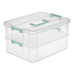 Sterilite ® Stack & Carry 2 Layer Handle Box - 14-3/8