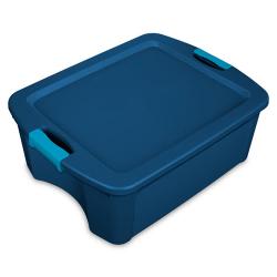 Sterilite ® 12 Gallon True Blue Latch & Carry w/Aquarium Latches