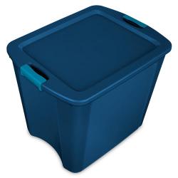Sterilite ® 26 Gallon True Blue Latch & Carry w/Aquarium Latches