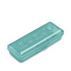 "Sterilite® Molokai Tint Mini Pencil Box - 8-3/8"" L x 3-5/8"" W x 2"" H"
