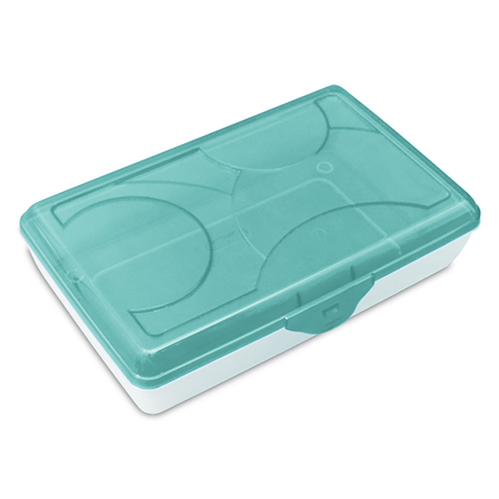 "Sterilite® Supply Box with Splash Tint & See-Thru Base - 11-1/2"" L x 7-5/8"" W x 2-7/8"" H"