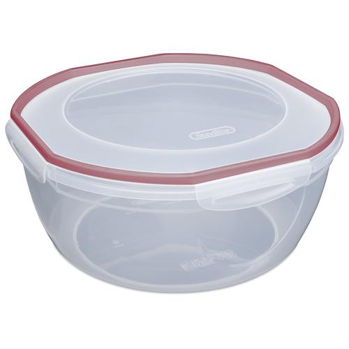 "Sterilite® Ultra•Seal™ 8.1 Quart Bowl w/Rocket Red Accents - 12"" Dia. x 5-5/8"" H"