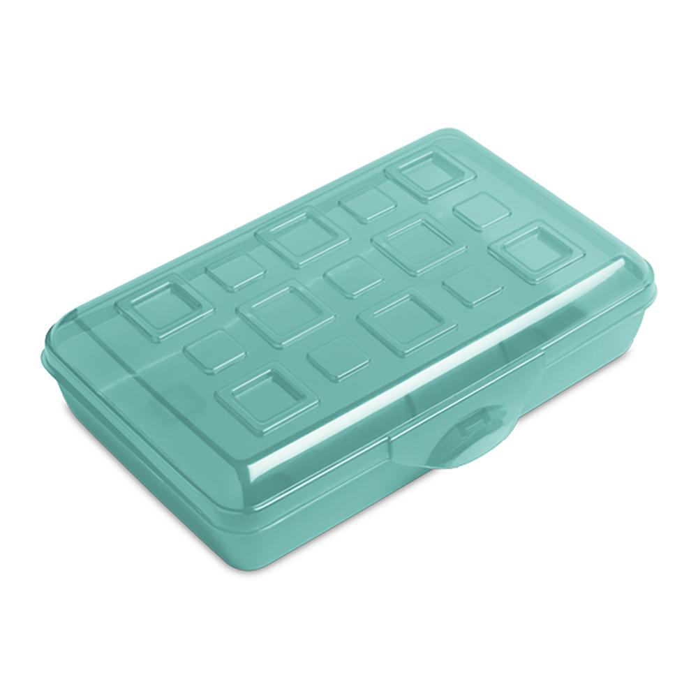 "Sterilite® Molokai Tint Pencil Box - 8-3/8"" L x 5-5/8"" W x 2-1/8"" Hgt."