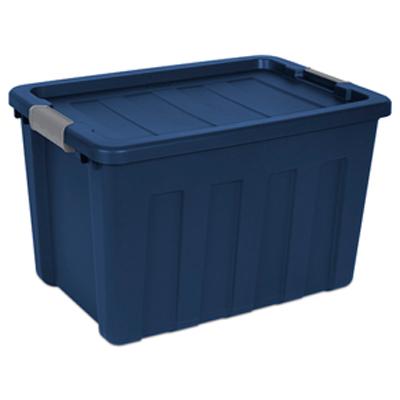 """Sterilite® 25 Gallon True Blue Ultra™ Tote with Titanium Latches - 27"""" L x 18-3/4"""" W x 16-7/8"""" H"""