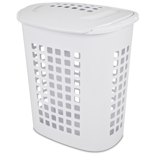 Sterilite® 2.3 Bushel White Lift-Top Laundry Hamper