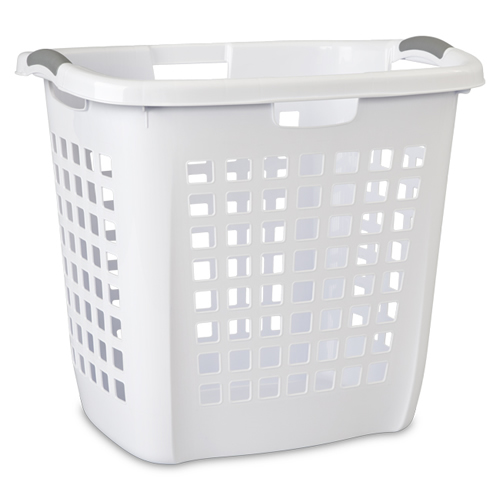 "Sterilite® White Ultra™ Easy Carry Hamper - 22-1/4"" L x 17-3/8"" W x 19-7/8"" H"