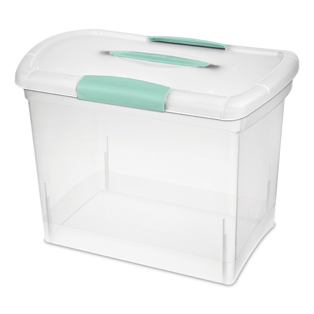 Sterilite® Large Nesting ShowOffs™ Box w/Aquarium Handle & Latches