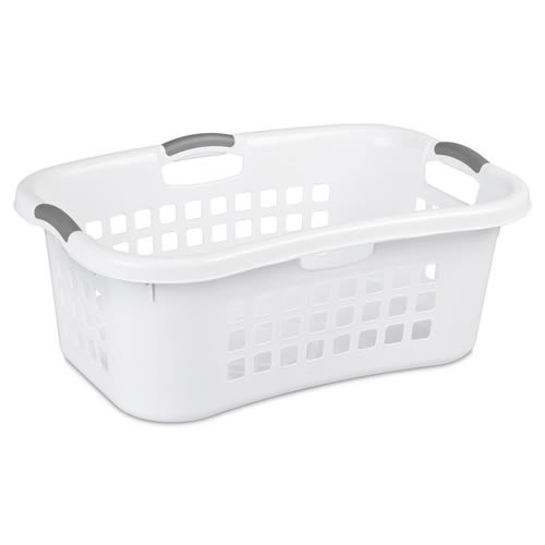 Sterilite® 1.5 Bushel White Ultra™ Laundry Basket