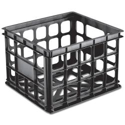 Sterilite ® Black Storage Crate - 15-1/4
