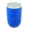 30 Gallon Blue Open Head Drum with Plain Lids