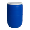 55 Gallon Blue Open Head Drum with Plain Lids