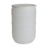55 Gallon Natural Open Head Drum with Plain Lids