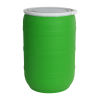 55 Gallon Green Open Head Drum with Plain Lids