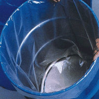 "55 Gallon Polypropylene Drum Liner 23.3"" x 40"" x 4 Mil"