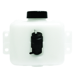 2 Quart HDPE Windshield Washer Tank assembly with 12 Volt Pump - 8.63