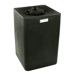 10 Gallon Black Square Utility Tank with 5