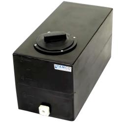 6 Gallon Black Molded Polyethylene Tamco ® Tank with Lid & 1/2