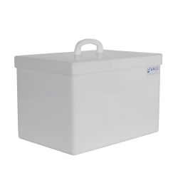 11 Gallon Rectangular HDPE Tank with Cover - 18
