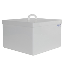 16 Gallon Rectangular HDPE Tank with Cover - 18