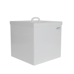 25 Gallon Rectangular HDPE Tank with Cover - 18