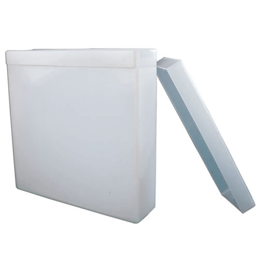 "10 Gallon Polypropylene Welded Tank - 24"" L x 4"" W x 24"" Hgt. (Lid Sold Separately)"