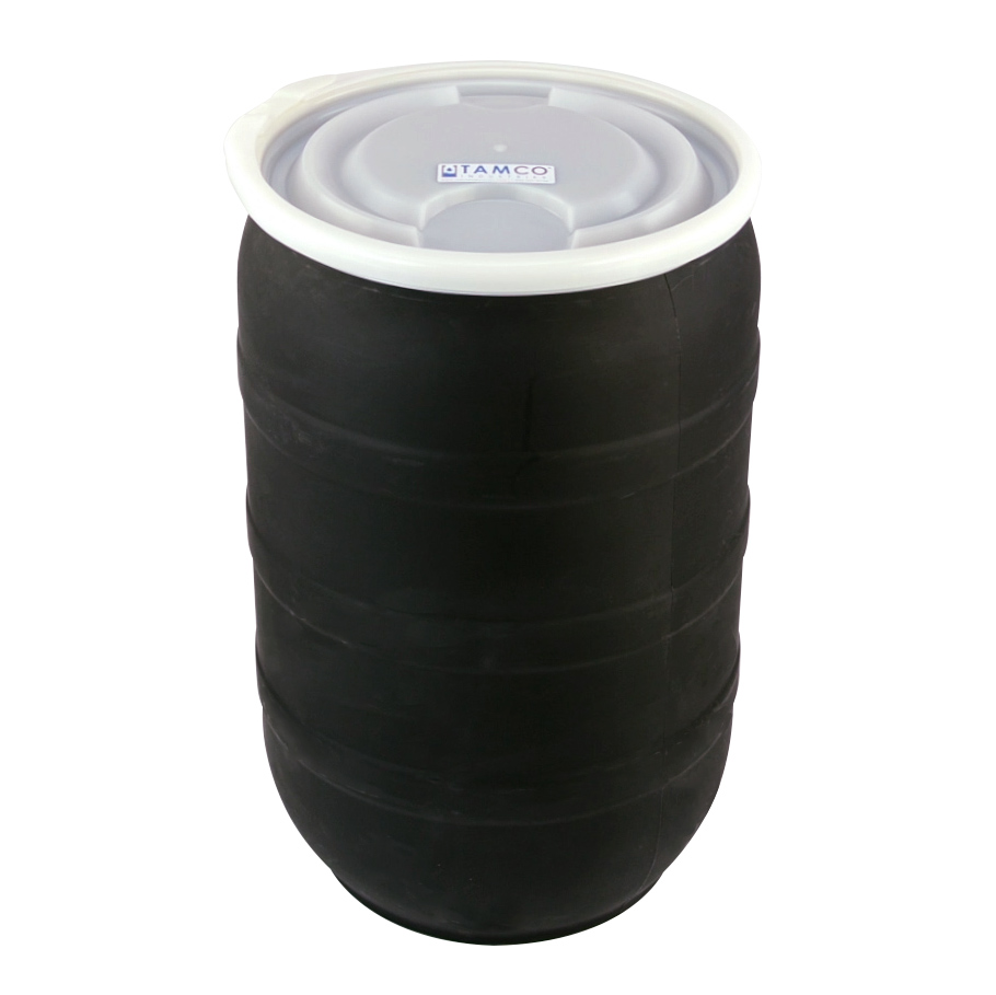30 Gallon Black Open Head Drum with Plain Lids