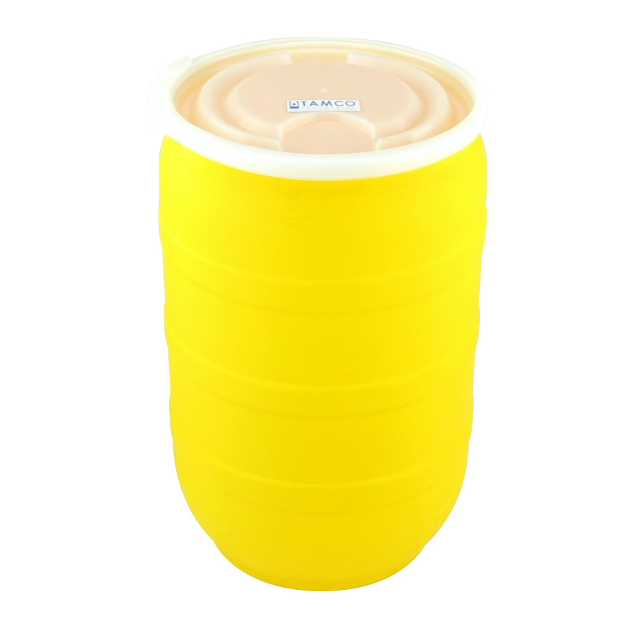30 Gallon Yellow Open Head Drum with Plain Lids