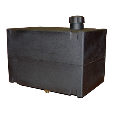 "6 Gallon Fuel Tank with 1/4"" Brass Fitting - 15"" L x 10"" W x 10"" H"