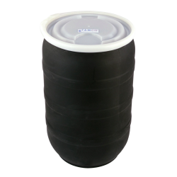 30 Gallon Black Tamco® Open Head Drum with Plain Lids
