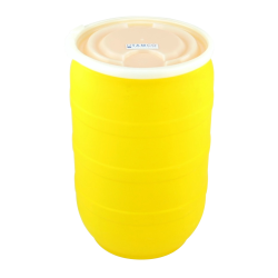 30 Gallon Yellow Tamco® Open Head Drum with Plain Lids
