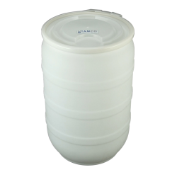 30 Gallon Natural Open Head Drum with Plain Lids