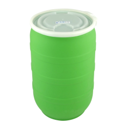 30 Gallon Green Tamco® Open Head Drum with Plain Lids