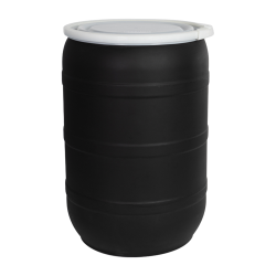 55 Gallon Black Tamco® Open Head Drum with Plain Lids