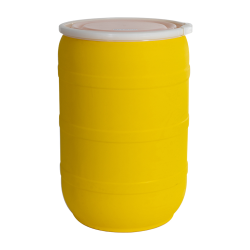 55 Gallon Yellow Open Head Drum with Plain Lids