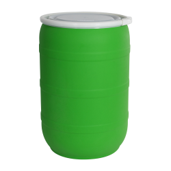 55 Gallon Green Tamco® Open Head Drum with Plain Lids