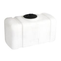 50 Gallon White Flat Bottom Tank, 38