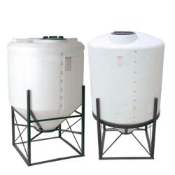 2500 Gallon 15° Cone Bottom, Dome Top White Tank w/16