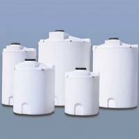 "550 Gallon Cross Linked Polyethylene Double Wall Tank - 60"" Dia. x 73"" H"