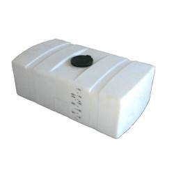 300 Gallon White Low Profile Rectangular Tank