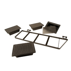 "Drip Tray Pan Insert w/Screen - 8"" L x 11.5"" W x 3.5"" H"