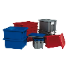 "Blue Cover for 19-1/2""L x 15-1/2""W Quantum® Stack & Nest Totes"