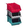 "Red Fiberglass Stack & Nest Hopper Bin - 24"" L x 11-3/8"" W x 7-7/8"" Hgt."