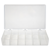 "6 Compartments Translucent K-Resin® Storage Box - 11"" L x 6-3/4"" W x 1-3/4"" Hgt."